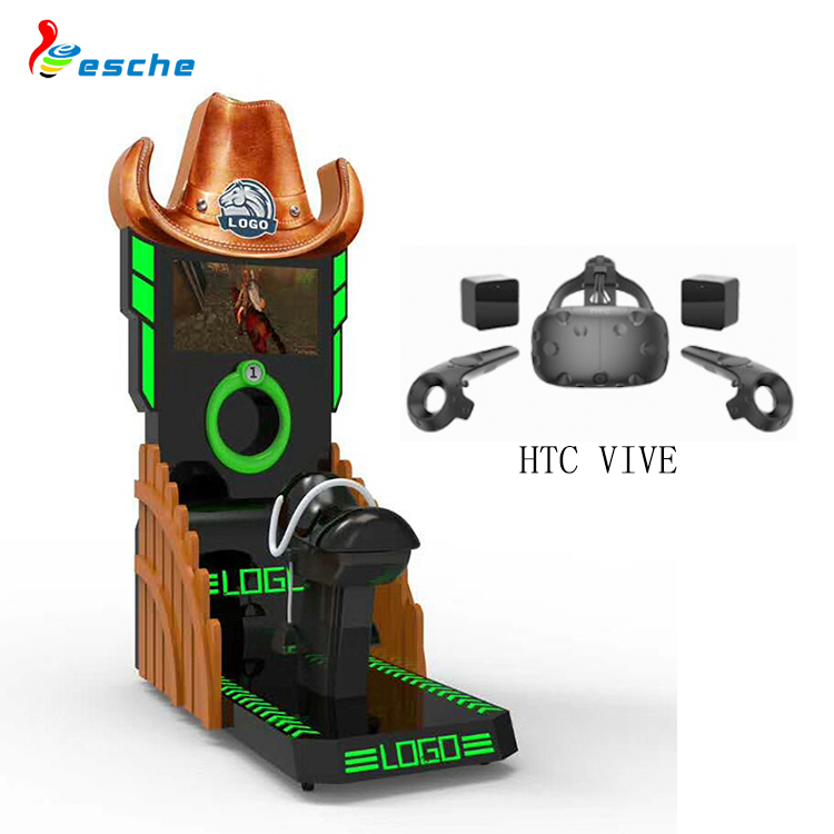 top quality 9d virtual reality simulation rides HTC vive coin operated horse racing game machine