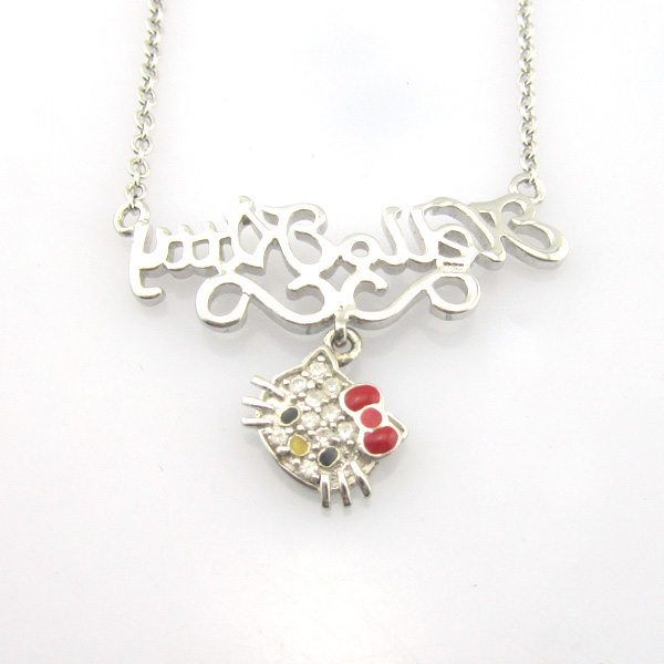 personalized hello kitty letter necklace for girls kids