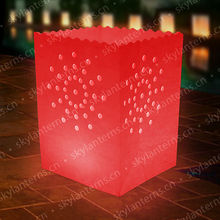 Luminary lantern wax paper candle bags/Glowing paper candle bag/Tealight candle bag for wedding and wishing