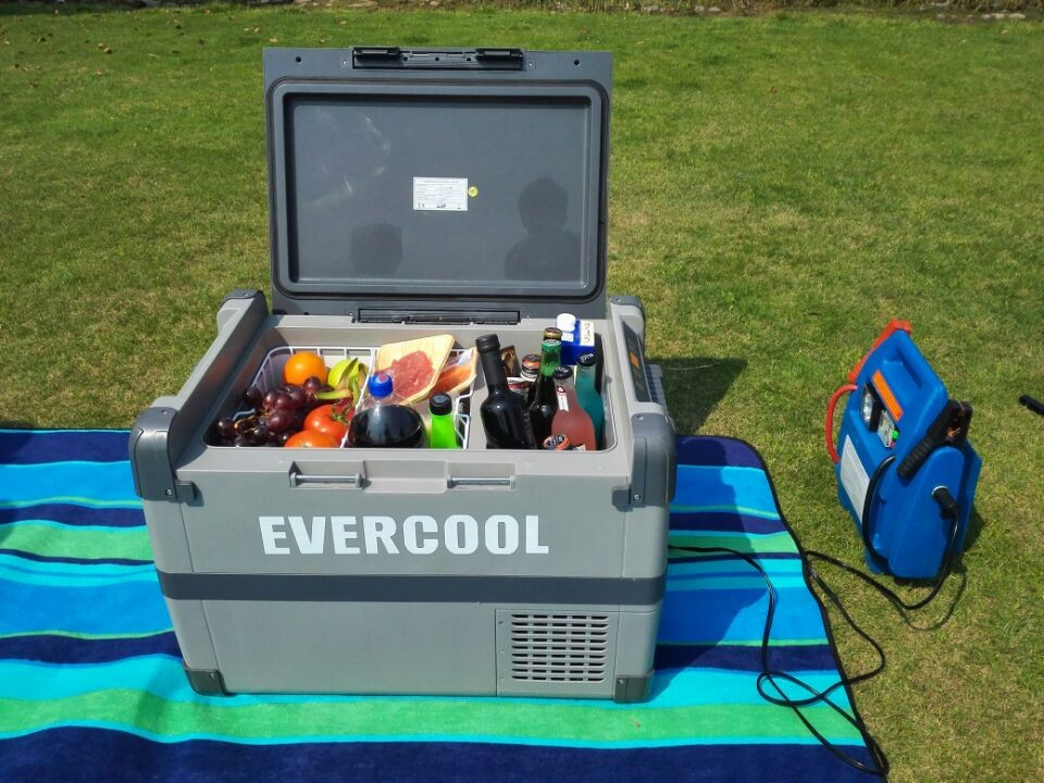 evercool camping mini fridge freezer car 40L protable compressor car 12 24 volt outdoor