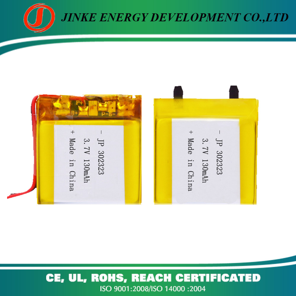high quality 130mAh 302323 rechargeable battery for gb/t18287-2000 standard battery