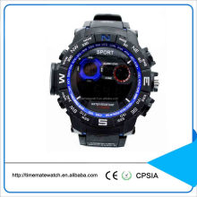 Multifunction newest men digital movement silicone wristwatch