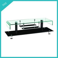 glass tv stand living room furniture tv cabinet T042