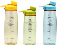 BPA Free 700ml sports plastic water bottle with handle
