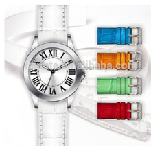 China Supplier Stainless Steel Case Luxury White Dial Leather Strap Watch Gift sets For Wedding