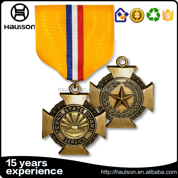 High quality antique bronze georgia copper us navy cross 3d die cast state coast guard service medal of honor medal medallion