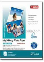 Waterproof Photograph Printing High Glossy Inkjet Photo Paper 210g