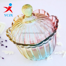 COLORFUL GLASS CANDY JAR/ SNACK JAR CHINESE SUPPLIER