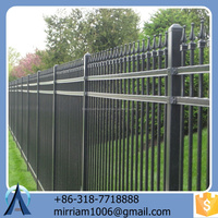 hot dip galvanized powder coated heavy duty steel fence panels