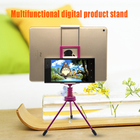 Hot selling funny cell phone holder for desk with tripod stand foldable phone support