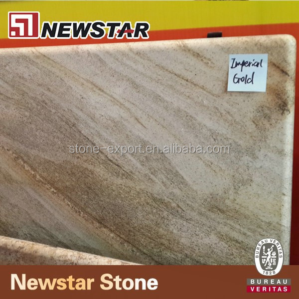 Imperial gold granite countertop for kitchen