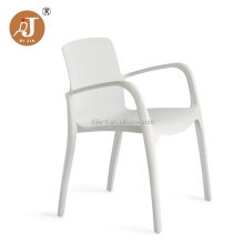 Good Price Solid PP Arm Chair White Plastic Dining Chair