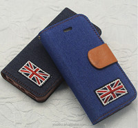Fashion luxury pu leather jeans case for samsung galaxy s5,for samsung s5 case