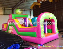 Cute apple Obstacle course ,inflatable toy for kids