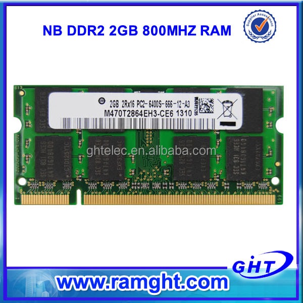Computer wholesale dropship 128mbx8 branded laptop ddr2 2gb