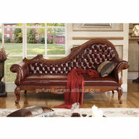 Newest model launched !! The antique solid wood chaise lounge chair for bedroom and living room