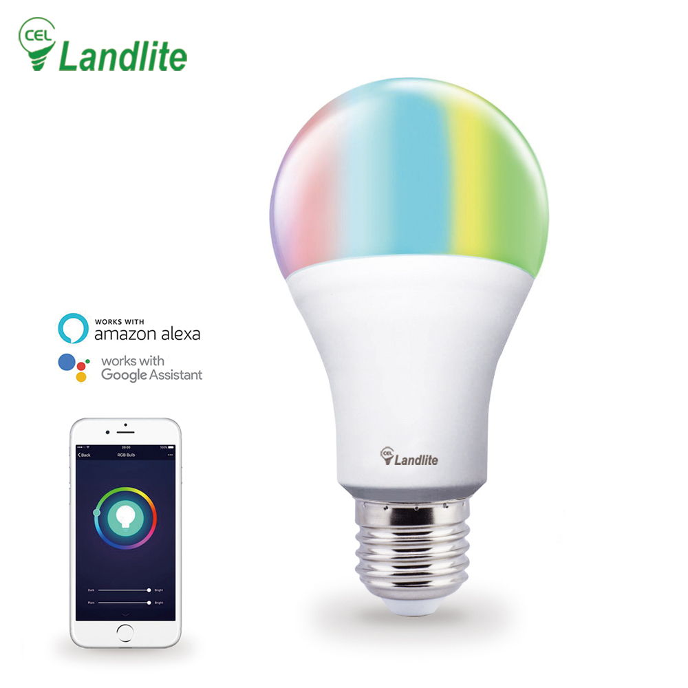Best Seller Led Lamp Light RGB CCT Color Controller Work with Alexa Google Assistant Wifi Smart <strong>Bulb</strong>