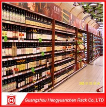 2015 best selling supermarket equipment showcase shelf and metal wine racking for sale