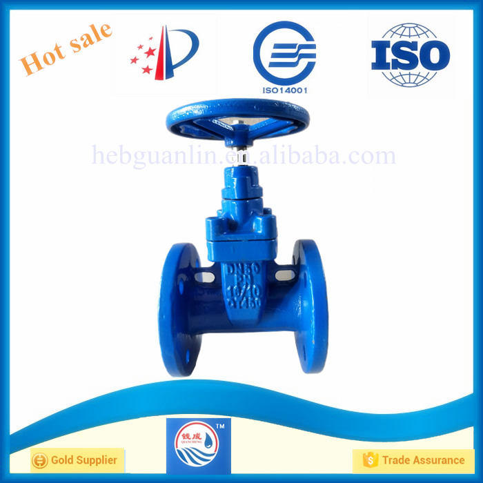 Ductile Cast Iron Non Rising Stem Gate Valve 2 inch for HDPE Pipe