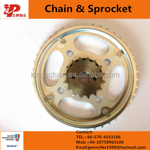 motorcycle spare part chain 420 and sprocket CD70