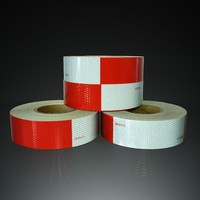 high intensity grade red&white reflective tape, trailer/truck marking tape HI-INT-180018