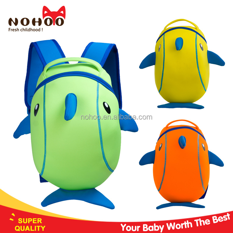 Cheap Price Cute Cartoon Dolphin Design Child School BagsTravelling Hiking Backpack For Kids