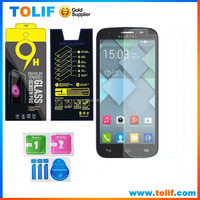 New product 2015 mobile phone screen protectors glass for Alcatel C3 C5 C7 C9 9H 0.3mm temperd glass screen protector
