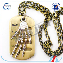 China suppliers Skeleton bones personalized metal dog tags