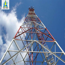 self-supporting wifi 4g lte gsm wireless telephone microwave telecom triangular steel lattice tower for signal transmission