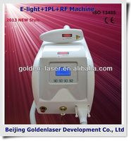 2013 New design E-light+IPL+RF machine tattooing Beauty machine plastic grip