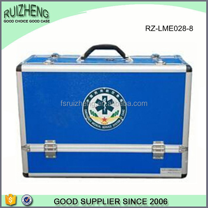 Blue plastic small tool case hotel aluminum first aid kit