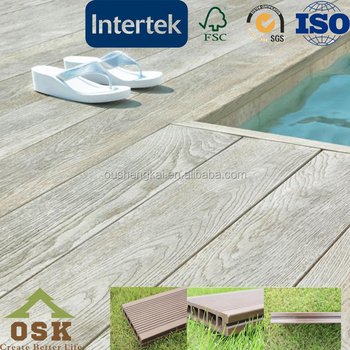 Decoration wpc easy installatin swimming pool decking boards