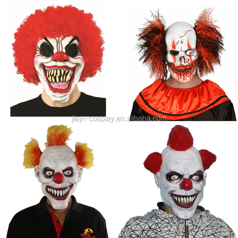 animal hallween party ugly Clown LaTeX mask