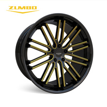 "Zumbo-Z85 Black milled/yellow alloy wheel for 3SDM big dish rim 20 inch 22 inch 20"" 22"" replica alloy wheels for car amg rims"