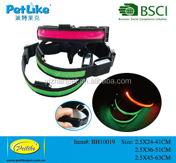 dog led safety leash dog collar red and green Dog pet customized packaging durable toys free samples