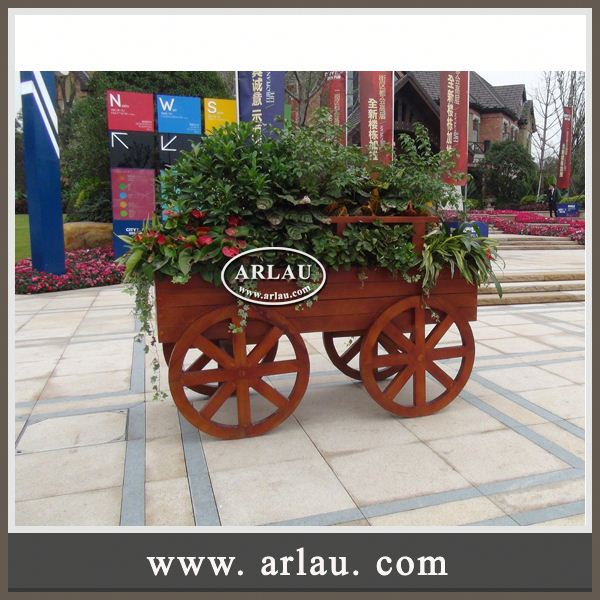 Arlau Vertical Garden Container And Planter,Small Wooden Plant Pot,Stainless Steel Flower Pots