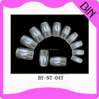 Different types nail shapes artificial fingers