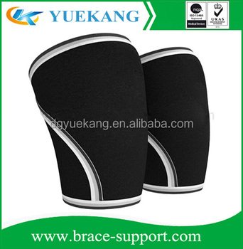 Reversible Neoprene Knee Support, Compression Knee Sleeve for Weight Lifting, Powerlifting