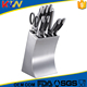 China manufacturer stainless steel knife set with acrylic stand for kitchen