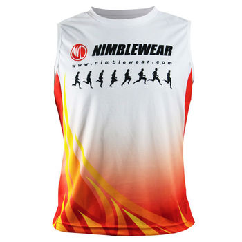 Custom sublimation polyester sports tank top