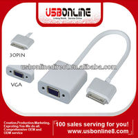 Dock Connector to VGA Adapter - Video adapter - 30pin docking adapter for Apple iPad