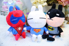 Super heroes kids gift lovely rabbit plush stuffed animal toy