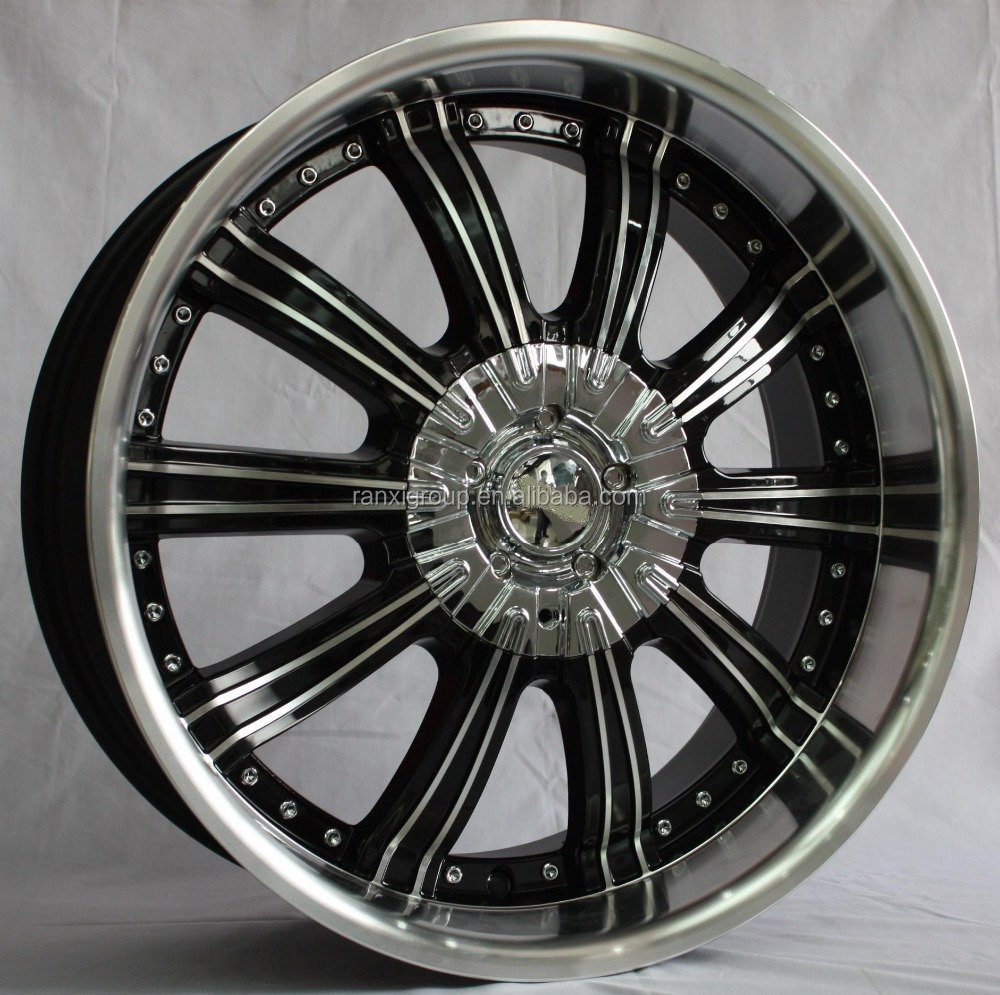 sport aluminum car wheel rim with chrome cap