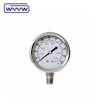 Factory price silicone or glycerine liquid filled pressure gauge
