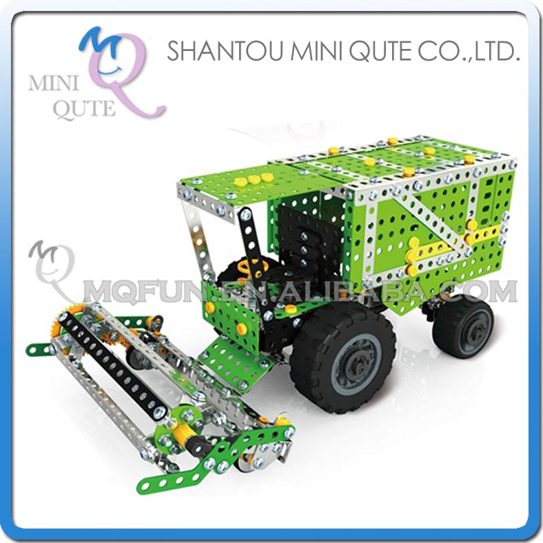 MINI QUTE Harvester Iron commander metal connect puzzle Assembly DIY building blocks kid educational toys NO.816L-1