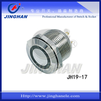 JH19-17 19mm illuminated push on push off switch