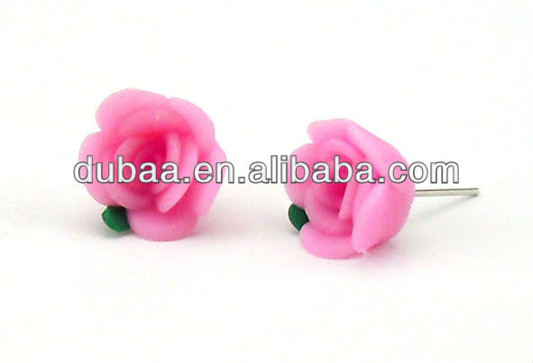 Fimo Earring Stud,2013 New Design Fashion Jewelry Ear Studs,Disguises for 6 People
