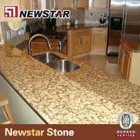 Newstar polished yellow butterfly prefab granite types of kitchen countertops laboratory bench top cost