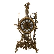 European Antique Crafts Luxury Table Bronze Clock