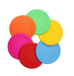 Flying Discs Flyer Silicone for Big Small Dogs Soft Tooth Resistant Rubber 6 Pack Dog Frisbees Training Toys